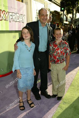 David Paymer with children Emily and Daniel