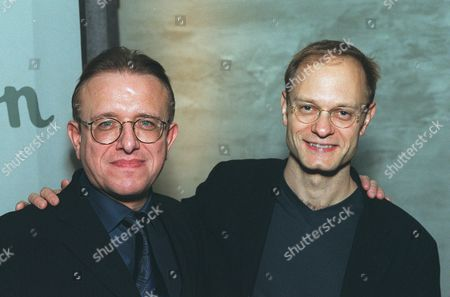 Stock Picture of 20001101    Los Angeles, CA       Richard Geoffroy (Chef de Cave) and David Hyde Pierce at an exclusive tasting for Dom Perignon launching Oenotheque.   The House of Dom Perignon released two classic vintages in limited quantity for the  first time in history.  A011264-22   Photo®Steve Wrubel/Berliner Studio/BEI
