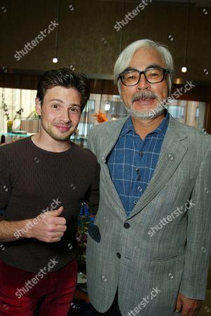 Jason Marsden and Hayao Miyazaki