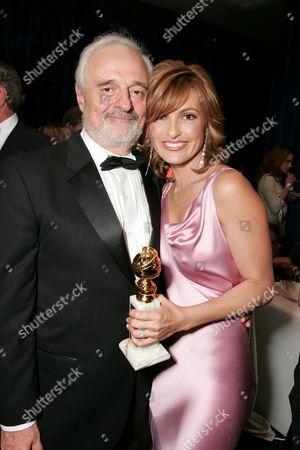 Stock Picture of Ted Kotcheff and Mariska Hargitay
