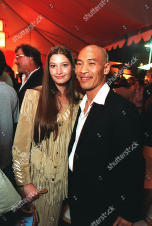 """Brandon Merrill and Roger Yuan at the world premiere party for  Touchtone Pictures' """"Shanghai Noon"""" Photo®Eric Charbonneau/BEI"""