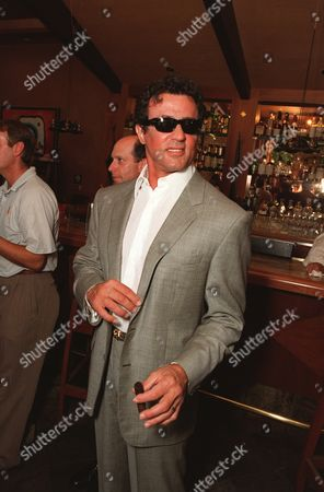 """20000607    Beverly Hills, CA Sylvester Stallone  at the """"baby shower"""" to launch Thatglow.com, the new pregnancy celebrity website founded by Jordan Davis and Angela Janklow Harrington at Spago's. Photo®Eric Charbonneau/BEI   A005649-8"""