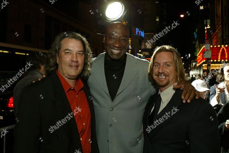 Stock Image of  Bob Walker, Michael Clark Duncan & Aaron Blaise