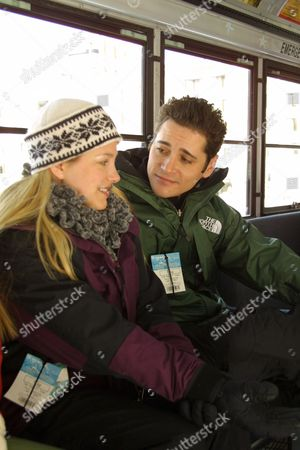 """01/20/01-Crested Butte, CO """"Providence"""" Seth Peterson and girlfriend Kylee at the opening of the new Club Med Resort in Crested Butte, Colorado.  Photo®Eric Charbonneau/BEI"""