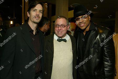 Stock Photo of Glenn Williamson, James Schamus and LL Cool J