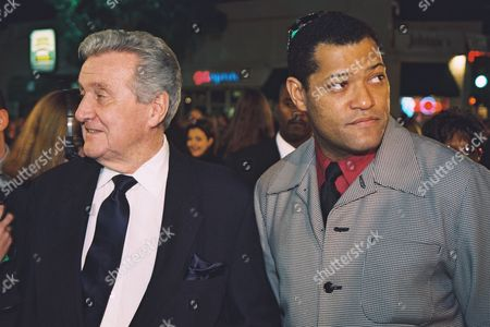 Stock Picture of Patrick Macnee and Laurence Fishburne
