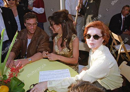 Jean-Claude Van Damme, Darcy LaPier and Priscilla Presley