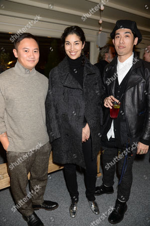 Tommy Ton, Caroline Issa and guest