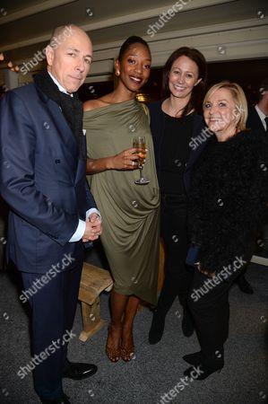 Stock Image of Dylan Jones, Vanessa Kingori and Caroline Rush