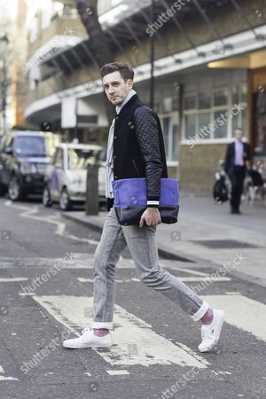 Will Taylor; blogger; Zara jacket; Sandro jeans; Lacoste shoes; Unknown watch; Tusting bag;