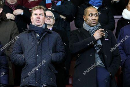 Stock Photo of QPR Head of Football operations Les Ferdinand alongside CEO Philip Beard