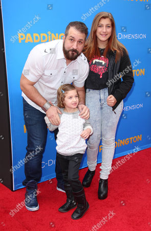 Joey Fatone with daughters Kloey and Briahna Fatone
