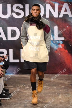 Editorial image of Shaun Samson fashion show, London Collections Men, London, Britain - 10 Jan 2015