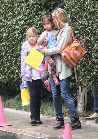 Denise Richards with daughters Lola Rose Sheen and Eloise Joni Richards