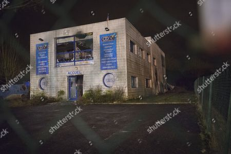 The warehouse in the village of Damartin-En-Goele on an industrial estate