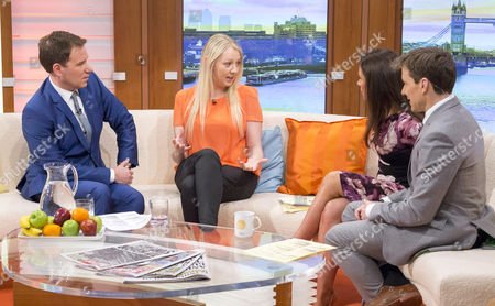 Richard Arnold and Christie Holland with Susanna Reid and Ben Shephard
