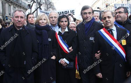 Francois Bayrou, Marielle de Sarnez, Rachida Dati and Philippe Douste-Blazy