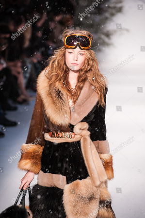 Hollie May Saker on the catwalk