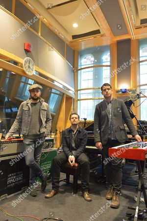 Augustines rehearsing at a studio in London - Rob Allen, Eric Sanderson and Billy McCarthy