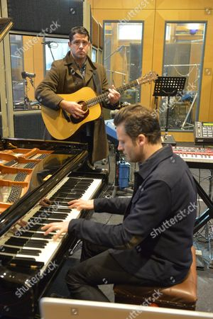 Augustines rehearsing at a studio in London - Billy McCarthy and Eric Sanderson