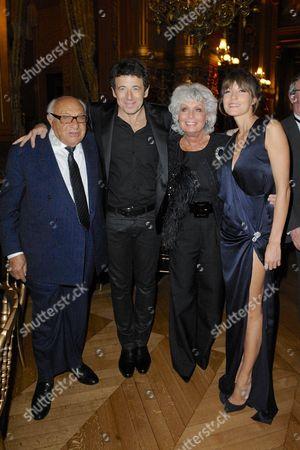 Jean Frydman, Patrick Bruel, Daniela Frydman and Caroline Nielsen