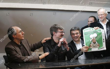 Editorial photo of Press Conference to Present the New Charlie Hebdo Issue at the Offices of French Newspaper Liberation in Paris, France - 13 Jan 2015