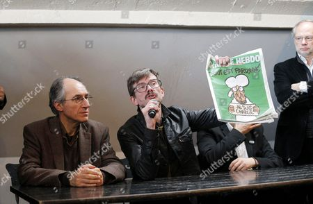 Editorial image of Press Conference to Present the New Charlie Hebdo Issue at the Offices of French Newspaper Liberation in Paris, France - 13 Jan 2015