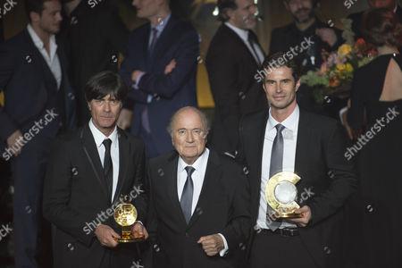 Joachim Low, Sepp Blatter, Ralf Kellermann