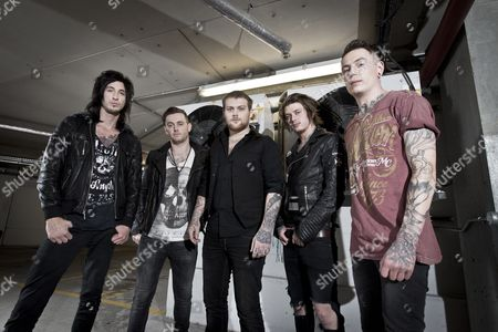Asking Alexandria - Cameron Liddell, Sam Bettley, Danny Worsnop, Ben Bruce and James Cassells, London, Britain