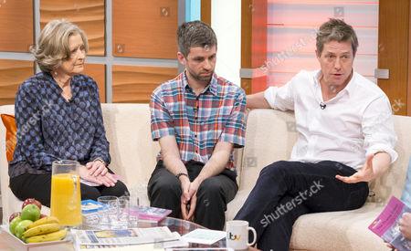 Sheila Hollins, Nigel Hollins and Hugh Grant