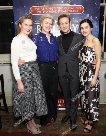 Louise Calf, Caroline Harker, Jack Hardwick & Serena Manteghi (cast of The Railway Children)