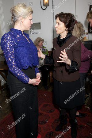 Caroline Harker (plays mother) & Lady Mary Archer
