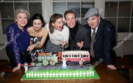 Caroline Harker, Serena Manteghi, Louise Calf, Jack Hardwick & Jeremy Swift (cast of The Railway Children)
