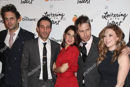 Editorial picture of 'Loitering with Intent' film premiere, New York, America - 14 Jan 2015