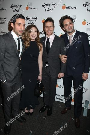 Editorial image of 'Loitering with Intent' film premiere, New York, America - 14 Jan 2015