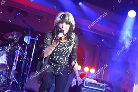 Stock Photo of The Giants of Rock Festival, Minehead, Somerset  - The Bev Bevan Band -  Joy Strachan-Brain