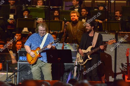 Celebrating Jon Lord at the Royal Albert Hall, London - Bernie Marsden, Paul Mann and Nick Fyffe