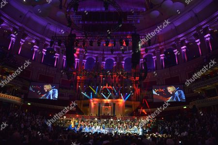Celebrating Jon Lord at the Royal Albert Hall, London - musicians performing live on stage
