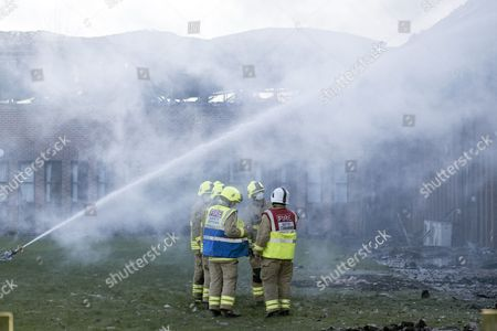 Stock Image of Fire at the South Oxfordshire District Council building in Crowmarsh Gifford