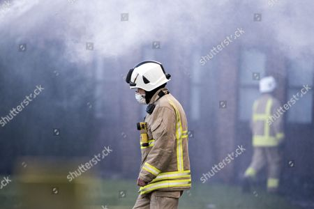 Fire at the South Oxfordshire District Council building in Crowmarsh Gifford