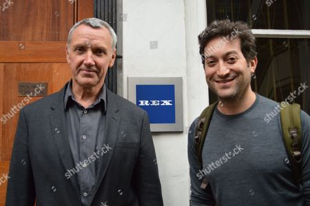 Stock Photo of Larry Lawson, MD of Rex Features, with Jon Oringer, founder and CEO of Shutterstock