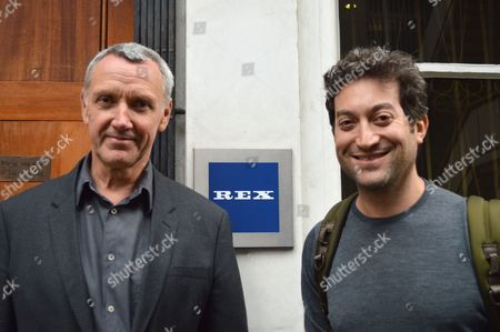 Larry Lawson, MD of Rex Features, with Jon Oringer, founder and CEO of Shutterstock
