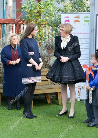 Stock Image of Dame Vivien Duffield, Catherine Duchess of Cambridge, Grayson Perry