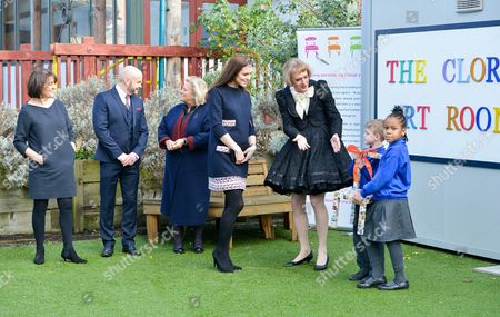Editorial picture of Catherine Duchess of Cambridge officially names The Clore Art Room at Barlby Primary School, London, Britain - 15 Jan 2015