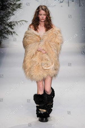 Hollie May Saker on catwalk