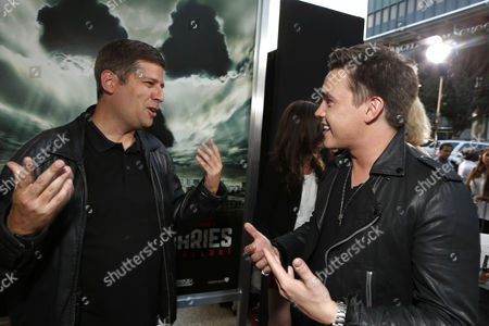 HOLLYWOOD, CA - MAY 23: Writer/Producer Oren Peli and Jesse McCartney at Special Fan Screening of Warner Bros. 'Chernobyl Diaries' at ArcLight Cinemas Cinerama Dome on May 23, 2012 in Hollywood, California.