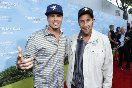 WESTWOOD, CA - JUNE 4: Robert Van Winkle and Adam Sandler at the World Premiere of Columbia Pictures' 'That's My Boy' at the Regency Village Theatre in Westwood, California.