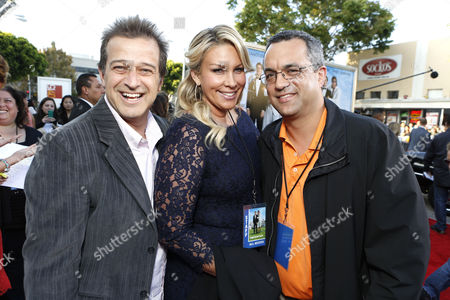 WESTWOOD, CA - JUNE 4: Producers Allen Covert, Heather Parry and Jack Giarraputo at the World Premiere of Columbia Pictures' 'That's My Boy' at the Regency Village Theatre in Westwood, California.