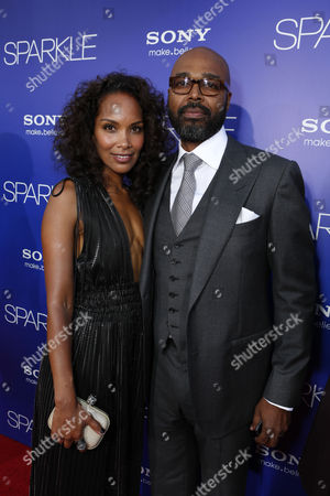 HOLLYWOOD, CA - AUGUST 16: Mara Brock Akil and Director Salim Akil at TriStar Pictures 'Sparkles' Premiere held at Grauman's Chinese Theatre on August 16, 2012 in Hollywood, California.