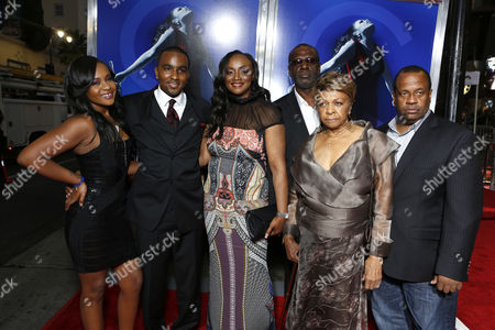 HOLLYWOOD, CA - AUGUST 16: Bobbi Kristina Brown, Nick Gordon, Pat Houston, Gary Houston, Cissy Houston, and Michael Houston at TriStar Pictures 'Sparkles' Premiere held at Grauman's Chinese Theatre on August 16, 2012 in Hollywood, California.